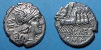 RÖMISCHE REPUBLIK  République romaine. L. Antestius Gragulus (vers 136 av. J-C). Denier
