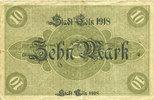 DEUTSCHLAND - NOTGELDSCHEINE (1914-1923) A - J  Cologne. Stadt. Billet. 10 mark 18.10.1918, série (Reihe) A I