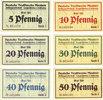 DEUTSCHLAND - NOTGELDSCHEINE (1914-1923) K -Z  Langenbielau (Bielawa, Pologne) Mautner, Deutsche Textilwerke A.G., billets 5, 1