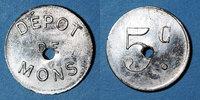 FRANZÖSISCHE NOTMÜNZEN  Le Puy (43). Dépot de Mons (prisonniers de Guerre). 5 centimes