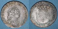 FRANZÖSISCHE KÖNIGLICHE MÜNZEN  Louis XV (1715-1774). 1/10 écu vertugadin 1716A. Réformation