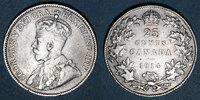 WELTMÜNZEN A bis G  Canada. Georges V (1910-1936). 25 cents 1914