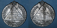 REVOLUTIONÄRE URKUNDEN und KRIEG VON 1870  Révolution de 1848. Adoption des formules de la constitution. Médaille étain. 46