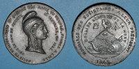 REVOLUTIONÄRE URKUNDEN und KRIEG VON 1870  Révolution de 1848. Clubs du Nord et du Pas de Calais. Médaille étain. 45 mm