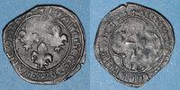 FRANZÖSISCHE KÖNIGLICHE MÜNZEN  François I (1515-1547). Double tournois à la croisette. H = La Rochelle
