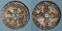 FRANZÖSISCHE KÖNIGLICHE MÜNZEN  Louis XIV (1643-1715). 6 deniers dits