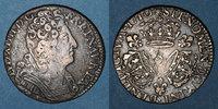 FRANZÖSISCHE KÖNIGLICHE MÜNZEN  Louis XIV (1643-1715). 1/4 écu aux 3 couronnes 1710&. Aix