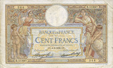 BANKNOTEN DER BANQUE DE FRANCE  Banque de France. Billet. 100 francs Merson 6.8.1936, grands cartouches