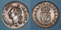 FRANZÖSISCHE KÖNIGLICHE MÜNZEN  Louis XVI (1774-1793). Liard 1782&. Aix