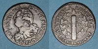 FRANZÖSISCHE MODERNE MÜNZEN  Constitution (1791-1792). 3 deniers 1792D Lyon. 2e semestre. Type