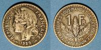 ALTE FRANZÖSISCHE KOLONIEN  Cameroun, Territoires sous mandat français (1919-45), 1 franc 1925