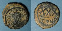 BYZANZ  Empire byzantin. Tibère II Constantin (578-582). 3/4 follis (= 30 noummia). Cons