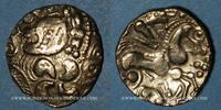 ANTIKEN GOLD MÜNZEN  Aulerques Eburovices (2e siècle - 1ère moitié du 1er siècle av. J-C). Hémistatèr
