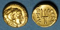 ANTIKEN GOLD MÜNZEN  Royaume de Macédoine. Philippe II (359-336 av. J-C). 1/8 statère. Pella