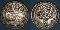 WELTMÜNZEN A bis G  Egypte. Occupation anglaise - Hussein Kamil (1333-1336H = 1914-1917). 20 piastre