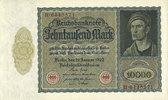 DEUTSCHLAND  Allemagne. Billet. 10 000 mark 19.1.1922, série H