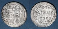ALTDEUTSCHLAND MÜNZEN  Hesse-Darmstadt. Ernest Louis (1678-1739). 2 albus 1703IAR