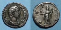 RÖMISCHE KAISERZEIT  Julia Mamée, mère d'Alexandre Sévère (t 235). Denier. Rome, 226. R/: Vesta voilé