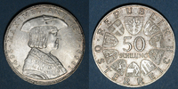 1969 EUROPE Autriche. République. 50 schilling 1969. 'Maximilien I' ss... 14,00 EUR  +  7,00 EUR shipping