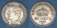 1867 A FRENCH MODERN COINS 2e empire (1852-1870). 20 centimes, tête la... 9,00 EUR  +  7,00 EUR shipping
