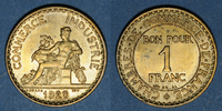 1923 FRENCH MODERN COINS 3e république (1870-1940). 1 franc Chambre de... 5,00 EUR  +  7,00 EUR shipping