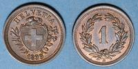 1899 B EUROPE Suisse. Confédération. 1 rappen 1899B ss  /  vz  24,00 EUR  +  7,00 EUR shipping