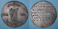 REVOLUTIONÄRE URKUNDEN und KRIEG VON 1870  Guerre de 1870-1871. Lille, Impôt sur la bière. Médaille étain cuivré. 71 mm