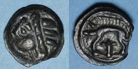 KELTISCHE MÜNZEN  Leuques (région de Toul) (2e moitié du 1er siècle av. J-C). Potin de classe Ig