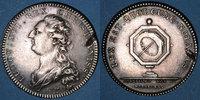 MARKEN - JETONS (RECHENPFENNIGE)  Notaires. Paris. Louis XVI. Jeton argent. Gravé par Droz
