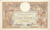 1937-10-21 NOTES OF THE BANQUE DE FRANCE Banque de France. Billet. 100... 90,00 EUR  +  7,00 EUR shipping