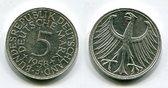 5 DM Silberadler 1958 J Bundesrepublik Deutschland Kursmünze Silberadler Seltener Jahrgang Key Date ! Erhaltung ! gutes vorzüglich