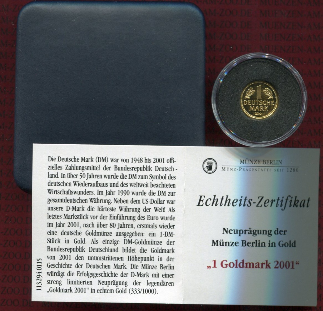 Neuprägung Münze Berlin 1 Goldmark 2006 Deutschland Brd Münze Berlin