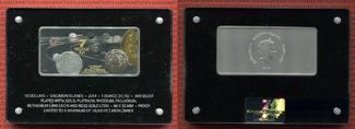 10 Dollar Münzbarren 2014 Salomonen, Solomon Islands Precious 7 in 1 Polierte Platte mit Box und Aufsteller