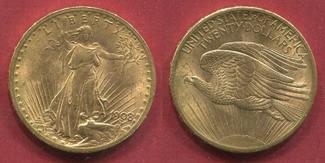 USA 20 Dollars USA Double Eagle 1908 prfr. fast St