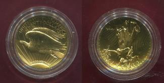 USA Ultra High Relief Double Eagle Coin 2009 Stemp