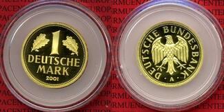 Bundesrepublik Deutschland 1 DM Gold 2001 A Stgl.