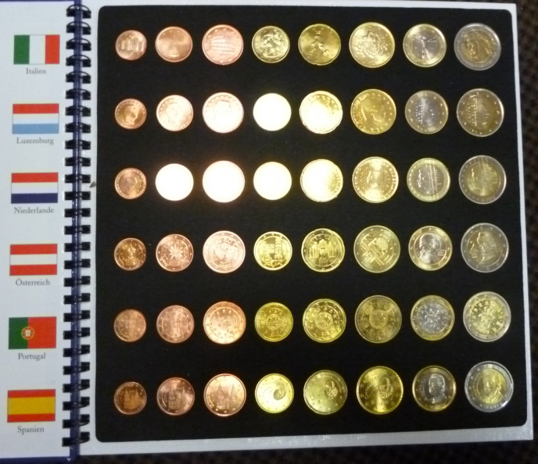 Euro Kursmünzensätze 12 X 388 1999 2002 Euro Kursmünzensätze