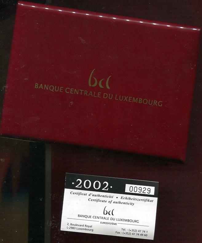 kursm nzensatz 2002 luxemburg luxemburg 2002 kms pp mit. Black Bedroom Furniture Sets. Home Design Ideas