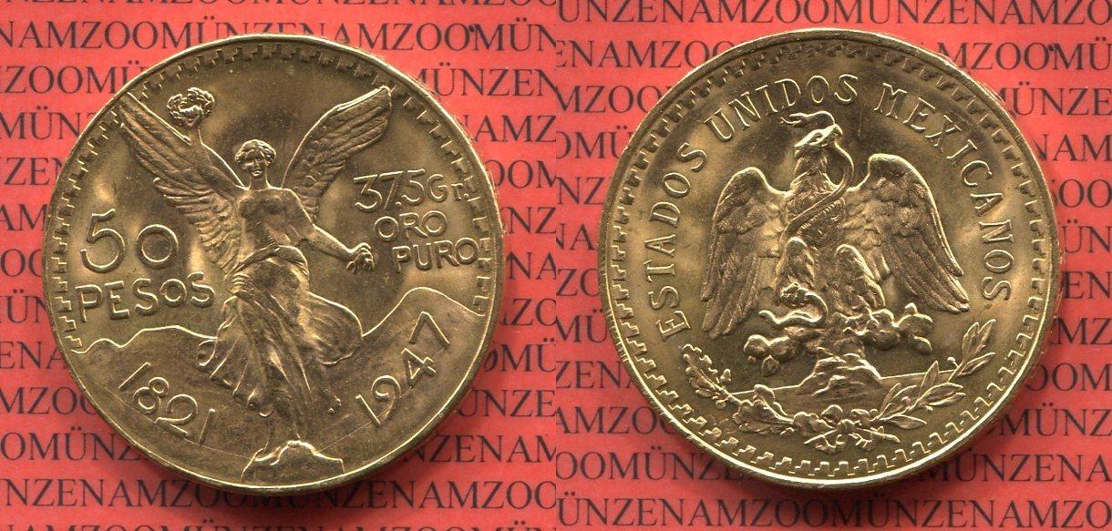 goldmünze 50 pesos 1947