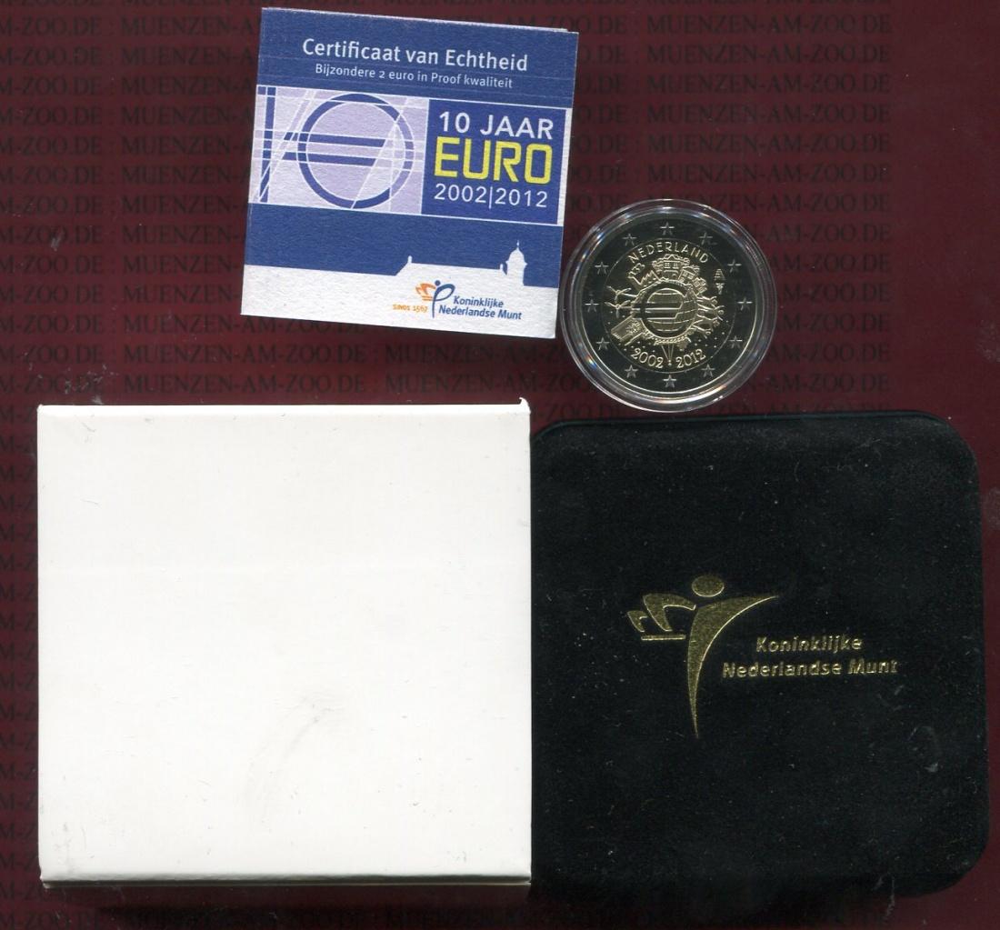 2 Euro Gedenkmünze 2012 Niederlande Holland Netherlands