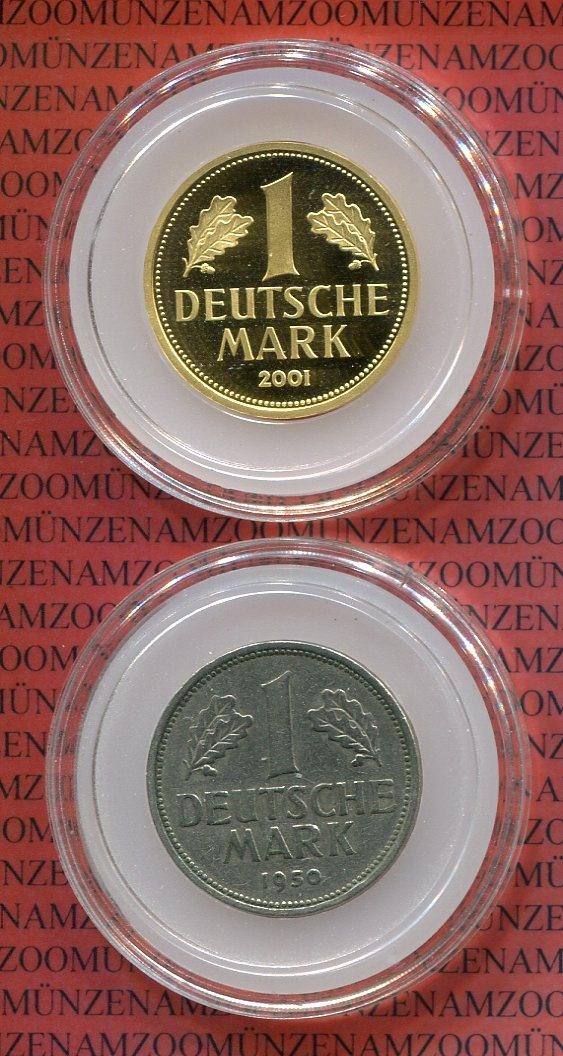 1 dm gold mark 1 dm 1950 f 2001 a bundesrepublik. Black Bedroom Furniture Sets. Home Design Ideas