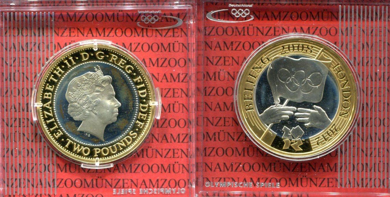 2 Pounds 2 Pfund 2008 Großbritannien Great Britain Großbritannien