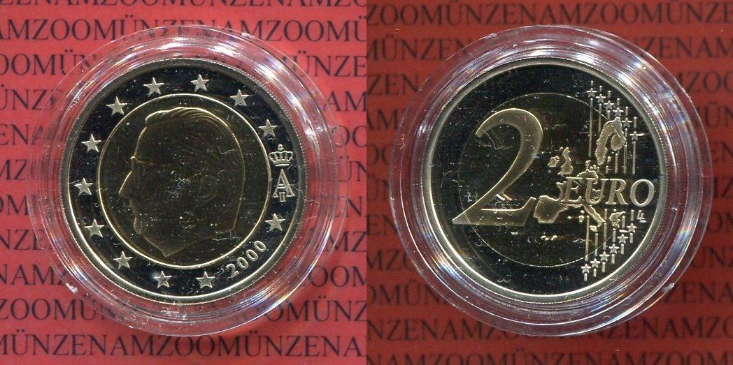 2 Euro Münze 2000 Belgien Belgien 2 Euro 2000 Bimetall Pp Polierte