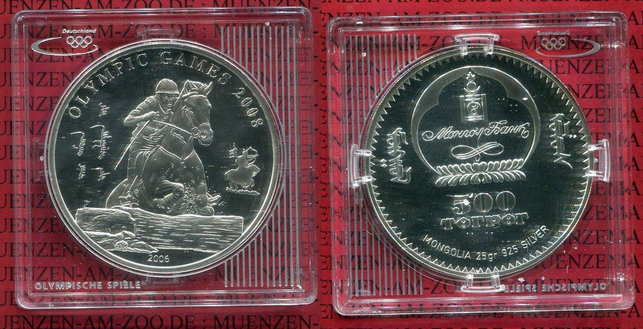 500 Togrog Tugrik Silbermünze 2005 Mongolei Mongolia Mongolei 500