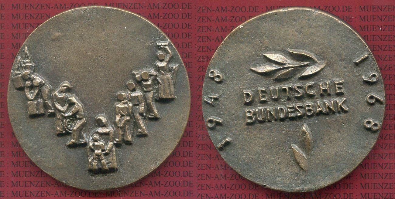 Bronzemedaille Mit Box 1968 Deutsche Bundesbank Bundesrepublik