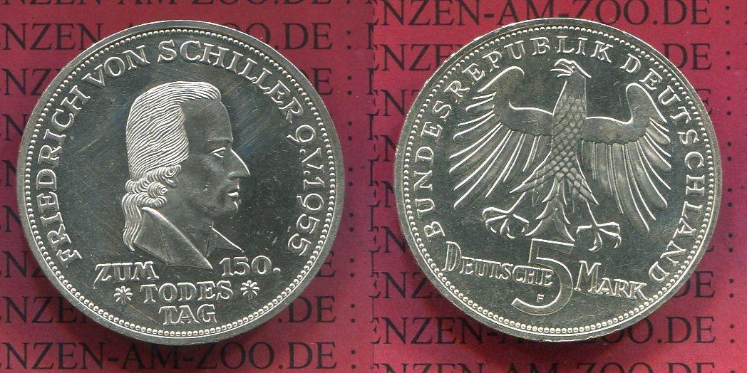 5 Dm Gedenkmünze Silber 1955 Bundesrepublik Deutschland