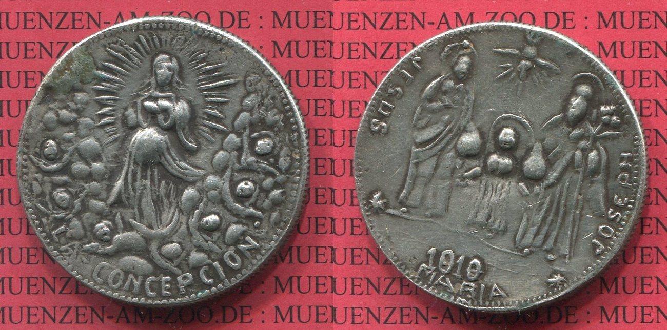 Münzschmuck Oj Religiöse Medaille Aus 8 Reales Münze Silber