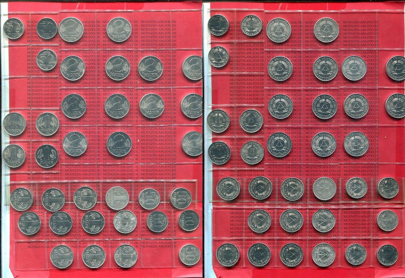Lot 36 Münzen 50 Pfennig Bis 2 Mark Diverse Ddr Lot Ddr 1948 1989