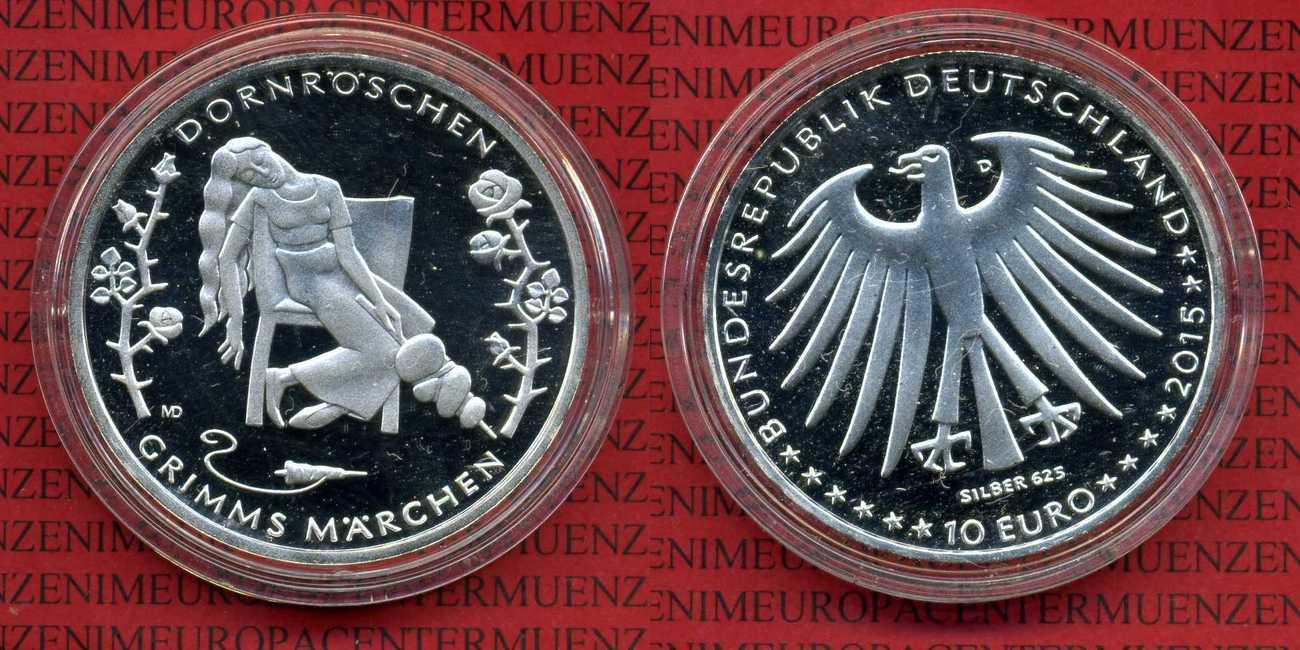 10 Euro Gedenkmünze 2015 Bundesrepublik Deutschland Frg Germany