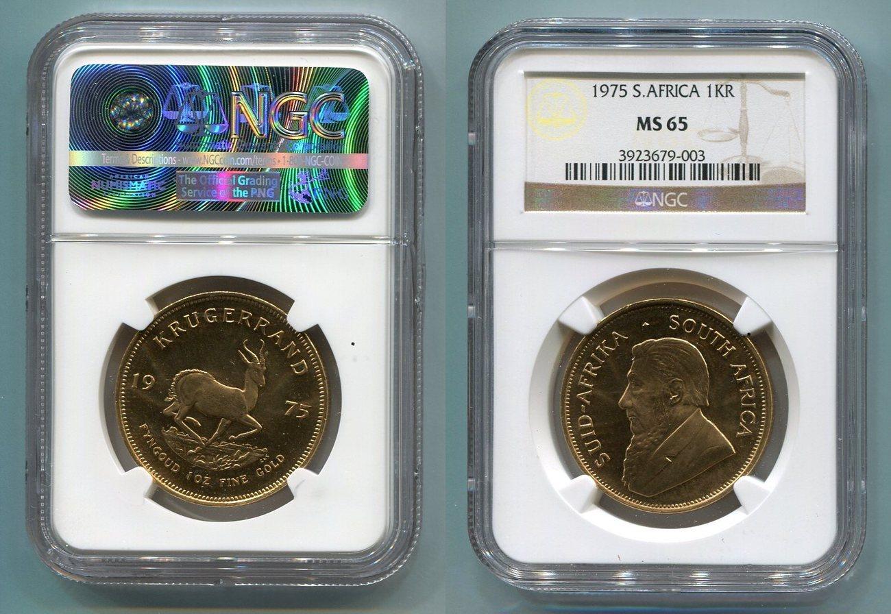 1 Unze Krügerrand Gold Südafrika, South Afrika Süd Afrika 1975 Krügerrand 1 Unze Krügerrand